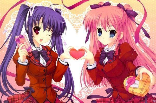 un coeur dans les mains ^^ (fond d'écran manga)