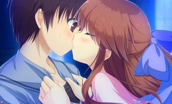 un baiser ?! ^^ (wallpapers manga)