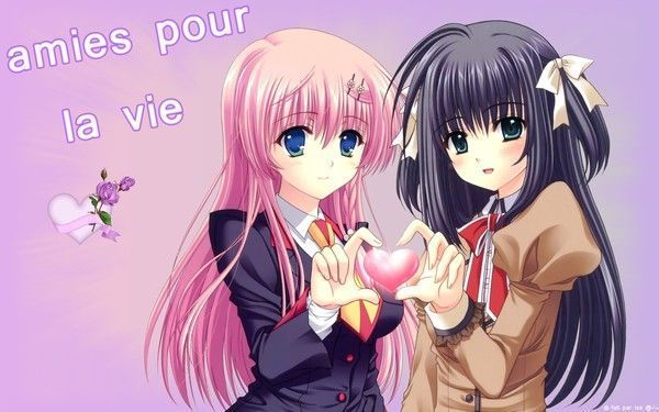 ami(e)s pour la vie ^^ (wallpapers manga)