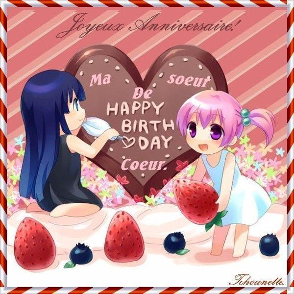 anniversaire de ma soeur de coeur