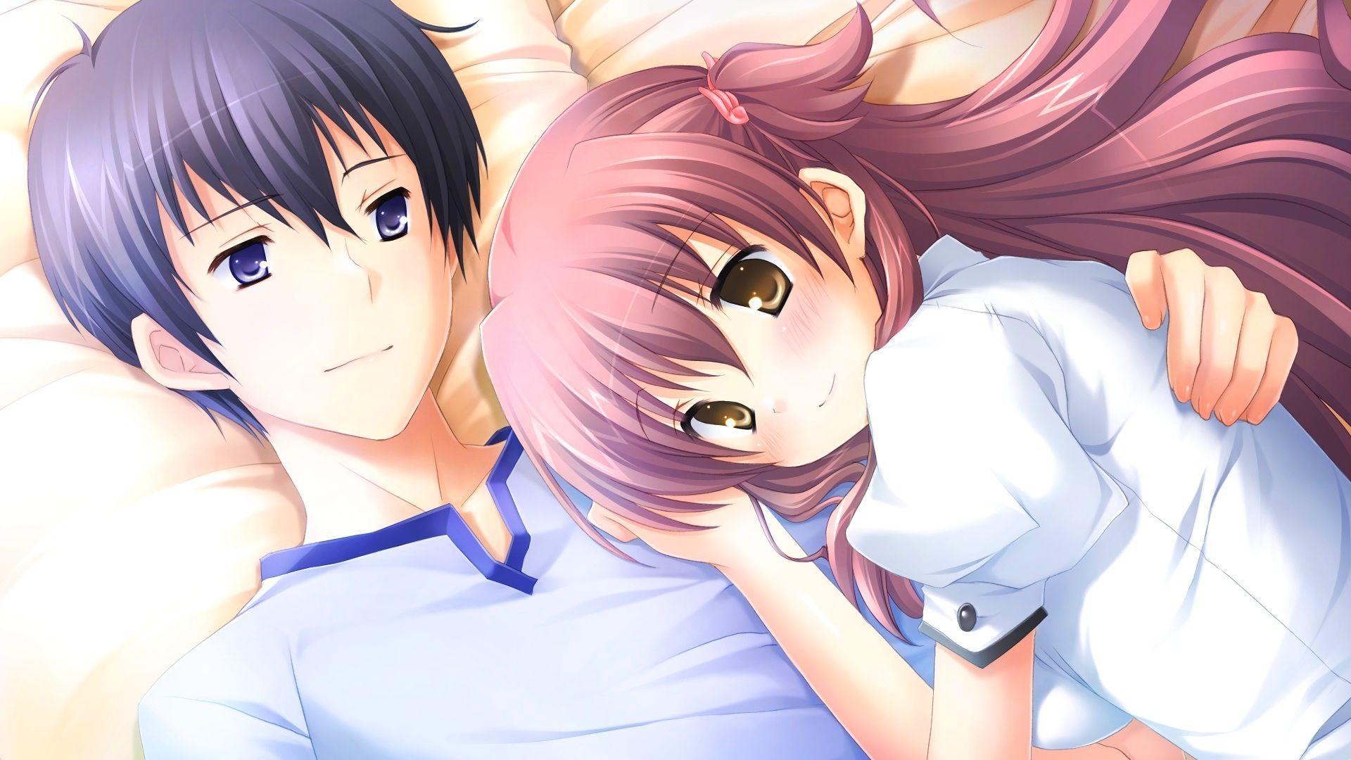 anime couple hugging wallpapers - photo #48