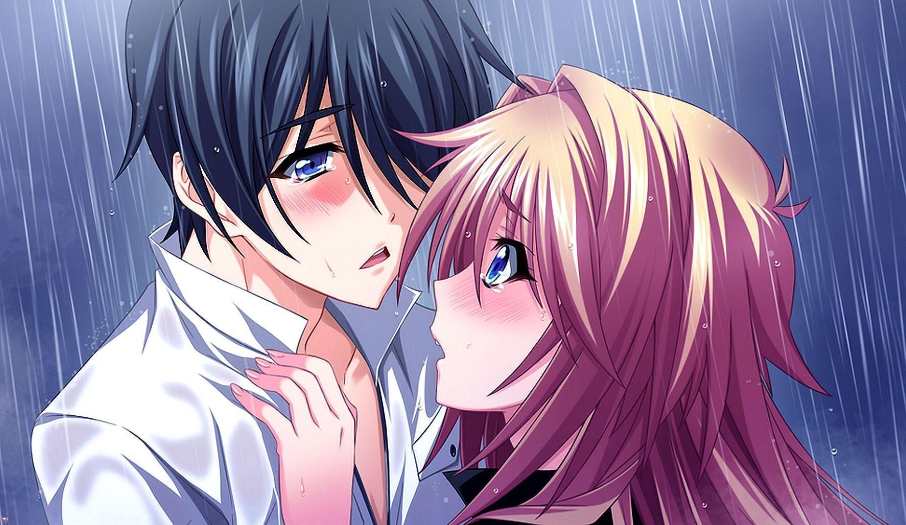 Manga sous la pluie - Image manga couple ...
