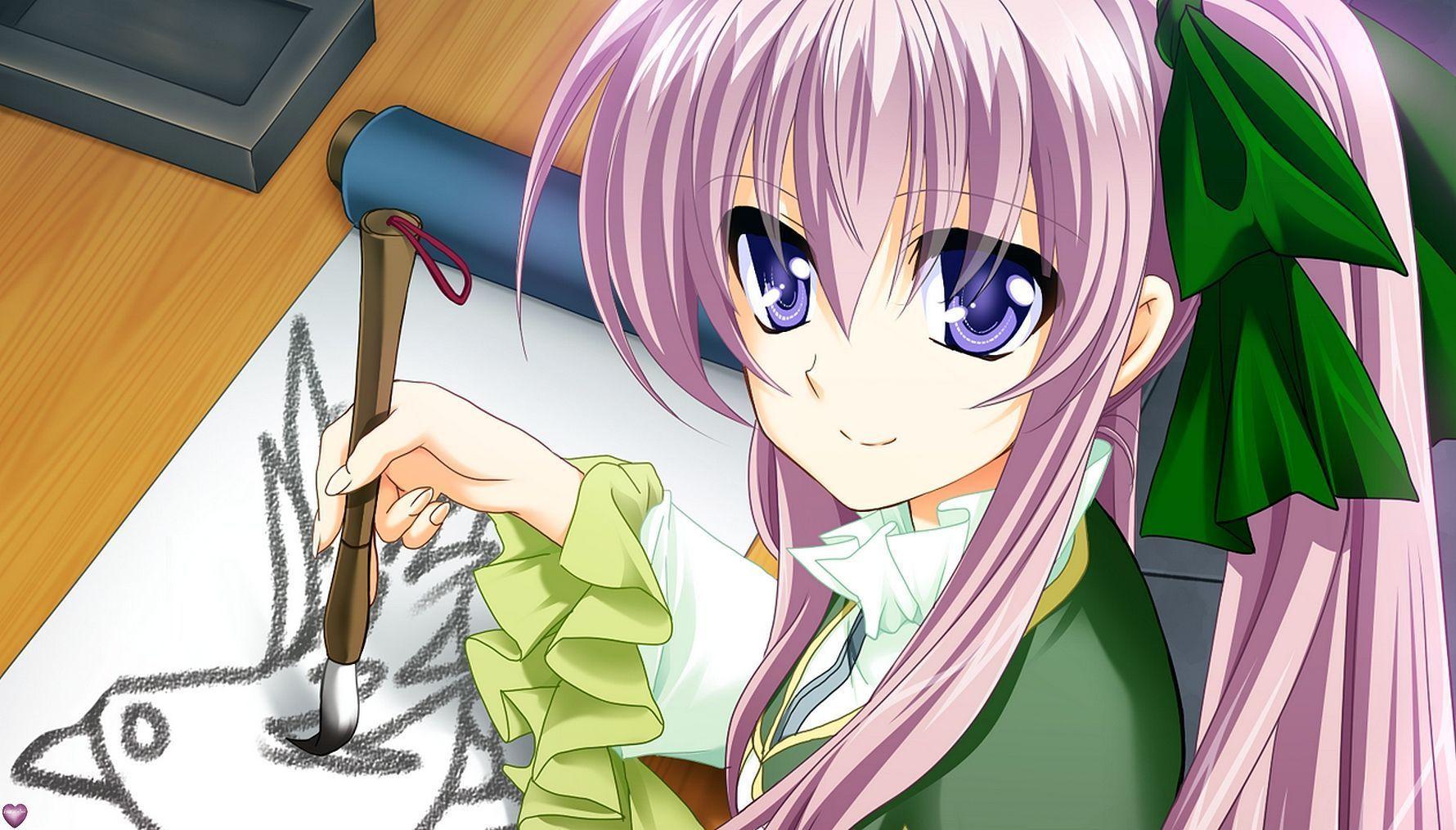 image manga qui dessine et peint